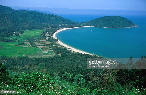 View of beaches below from the Hai Van Pass in the Truong Son Mountain Range