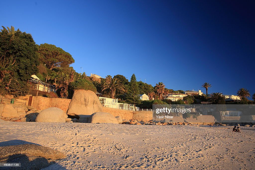 A view of beautiful Clifton Beach at sunset
