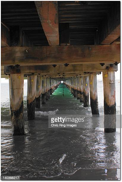 View of beneath pier