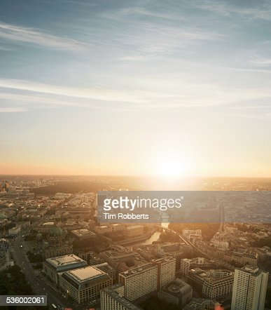 View of Berlin at sunset.