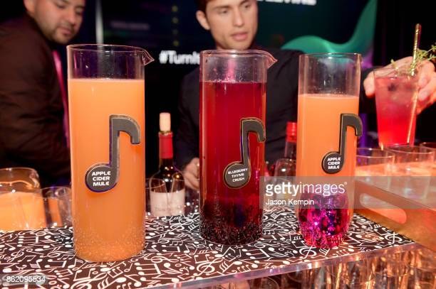 A view of beverages served at VH1 Save The Music 20th Anniversary Gala at SIR Stage37 on October 16 2017 in New York City
