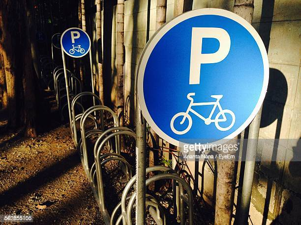 View Of Bicycle Parking Signs