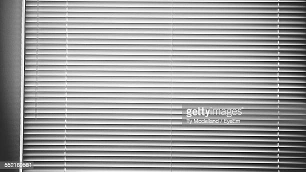 View Of Blinds On Window