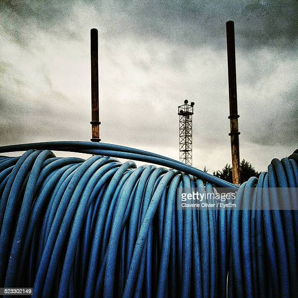 View Of Blue Hosepipe