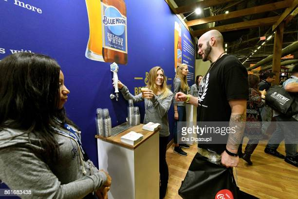 A view of Blue Moon Brewing Company at the Food Network Cooking Channel New York City Wine Food Festival Presented By CocaCola Grand Tasting...