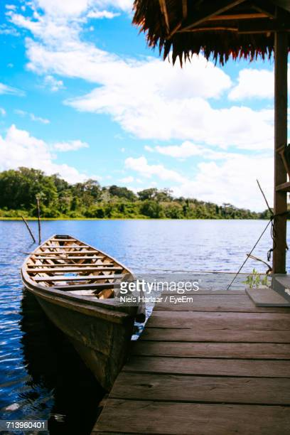 View Of Boat In Lake