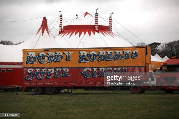 A view of Bobby Roberts Circus on Knutsford Common on March 30 2011 in Knutsford England Bobby Roberts Circus has had to erect a security fence...