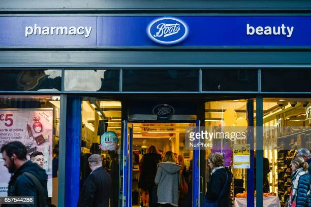 A view of Boots pharmacy in Dublin's city center On Friday March 24 in Dublin Ireland