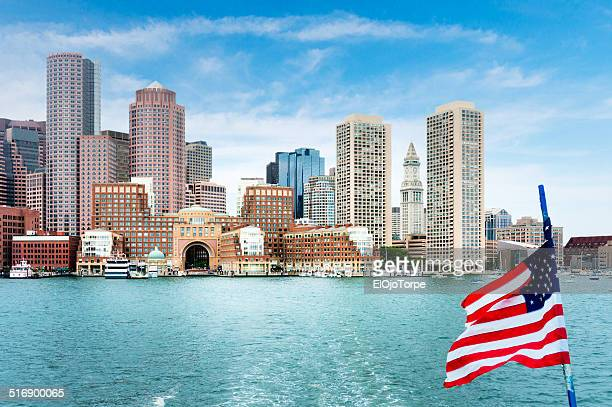View of Boston from vessel/ship