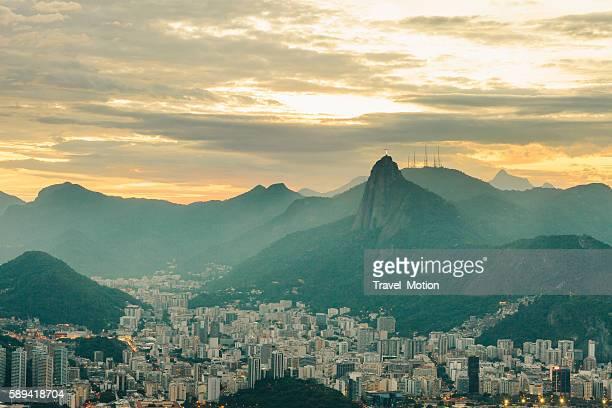 View of Botafogo at dusk, Rio de Janeiro