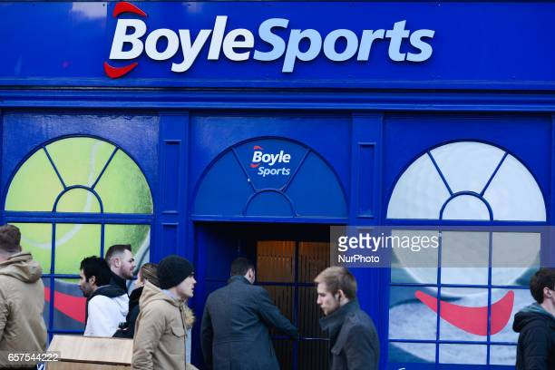 A view of BoyleSports logo in Dublin's Grafton Street BoyleSports is the largest independent bookmaker in Ireland Headquartered in Dundalk County...