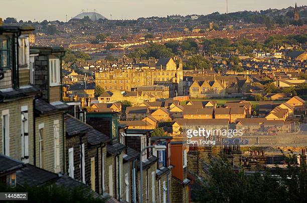 A view of Bradford a northern English town which has been the site of recent rioting as a result of tensions between the local Asian community and...
