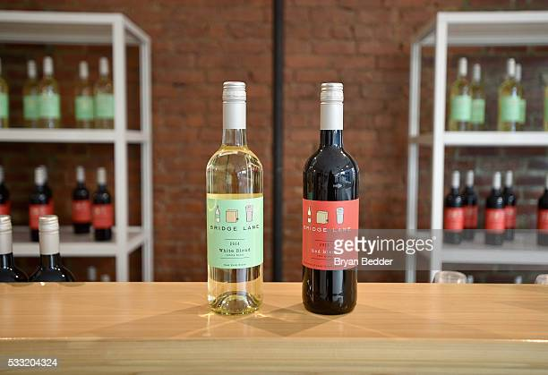 View of Bridge Lane wine bottles at the Vulture Festival at Milk Studios on May 21 2016 in New York City
