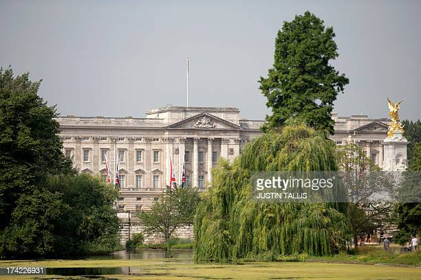 A view of Buckingham Palace in the morning sunshine in central London on July 22 2013 Prince William's wife Kate was admitted to hospital today in...