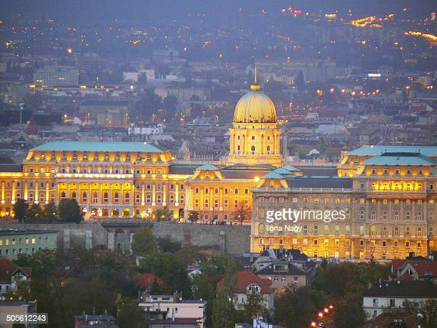 View of Buda Castle at night