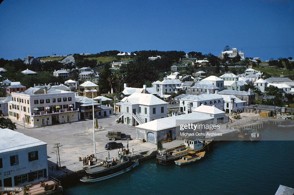 A view of buildings in Bermuda.
