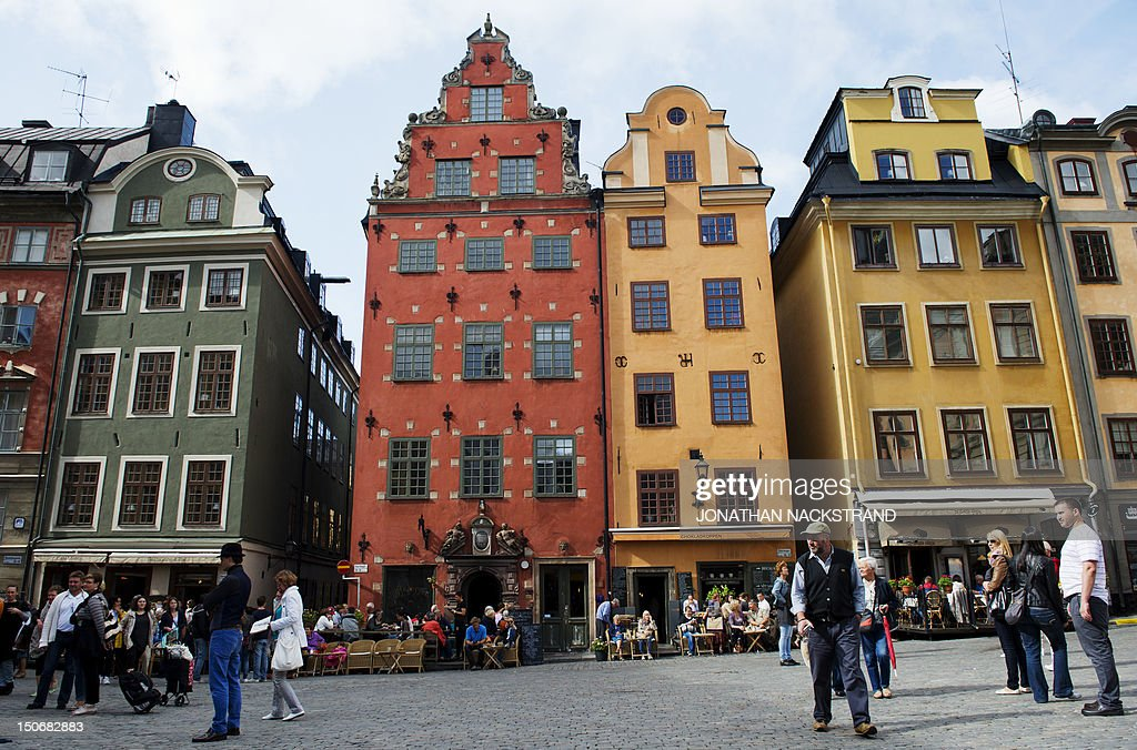A view of buildings in Stockholm's old city on August 24 2012 AFP PHOTO / JONATHAN NACKSTRAND