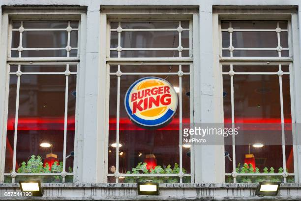 A view of Burger King logo in Dublin's city center On Friday March 24 in Dublin Ireland