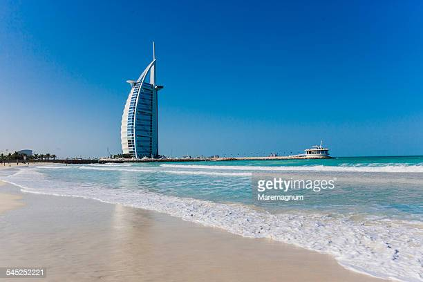 View of Burj al Arab from the beach