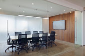 View of business conference room in modern office