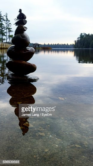 View Of Cairn In Water