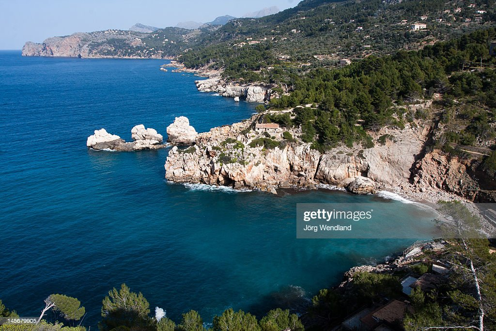 View of Cala Deia, Mallorca : Stock Photo