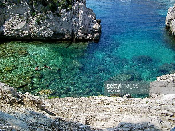 View of Calanques, France