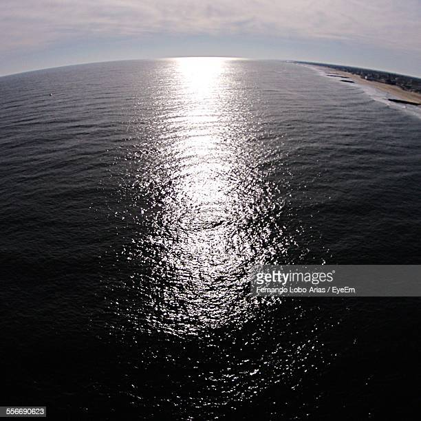 View Of Calm Sea Against The Sky