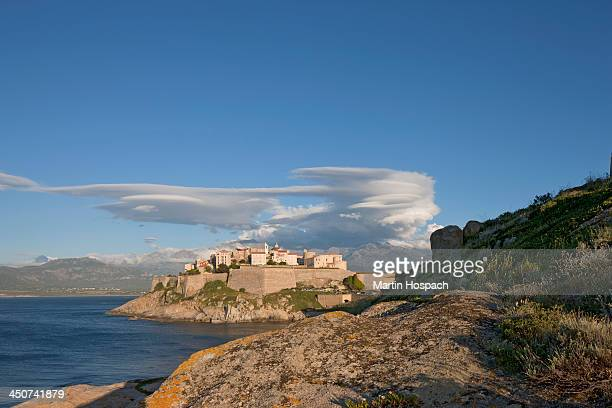 A view of Calvi on the island of Corsica, France