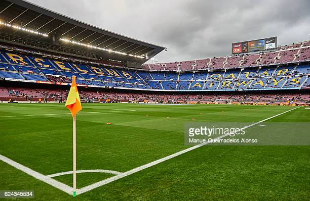 A view of Camp Nou Stadium home of FC Barcelona before the La Liga match between FC Barcelona and Malaga CF at Camp Nou stadium on November 19 2016...