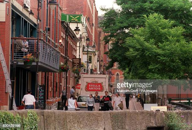 A view of Canal Street Manchester a famous gay district of the city