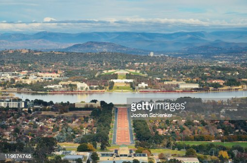 View of Canberra and Lake Burley Griffin