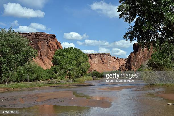 A view of Canyon De Chelly outside Chinle Arizona on May 19 2015 AFP PHOTO/ MLADEN ANTONOV