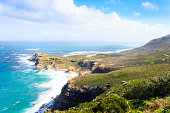 View of Cape of Good Hope South Africa. African landmark. Navigation