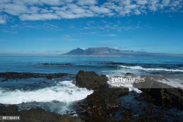 View of Cape Town, South Africa from nearby Robben Island