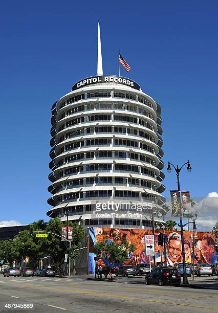 A view of Capitol Records in Hollywood on February 03 2014 in Los Angeles California
