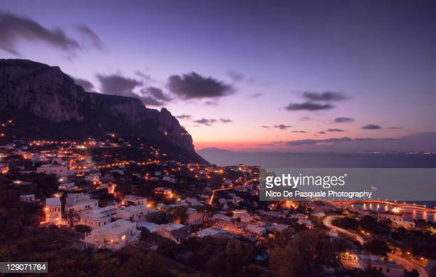 View of Capri at sunset