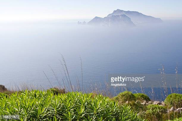 View of  Capri Island From Punta Campanella
