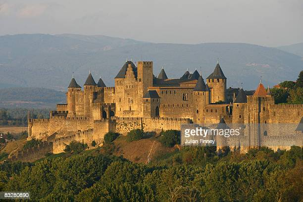 A view of Carcassonne a fortified french town in the South of France on September 24 2007 in Carcassonne France