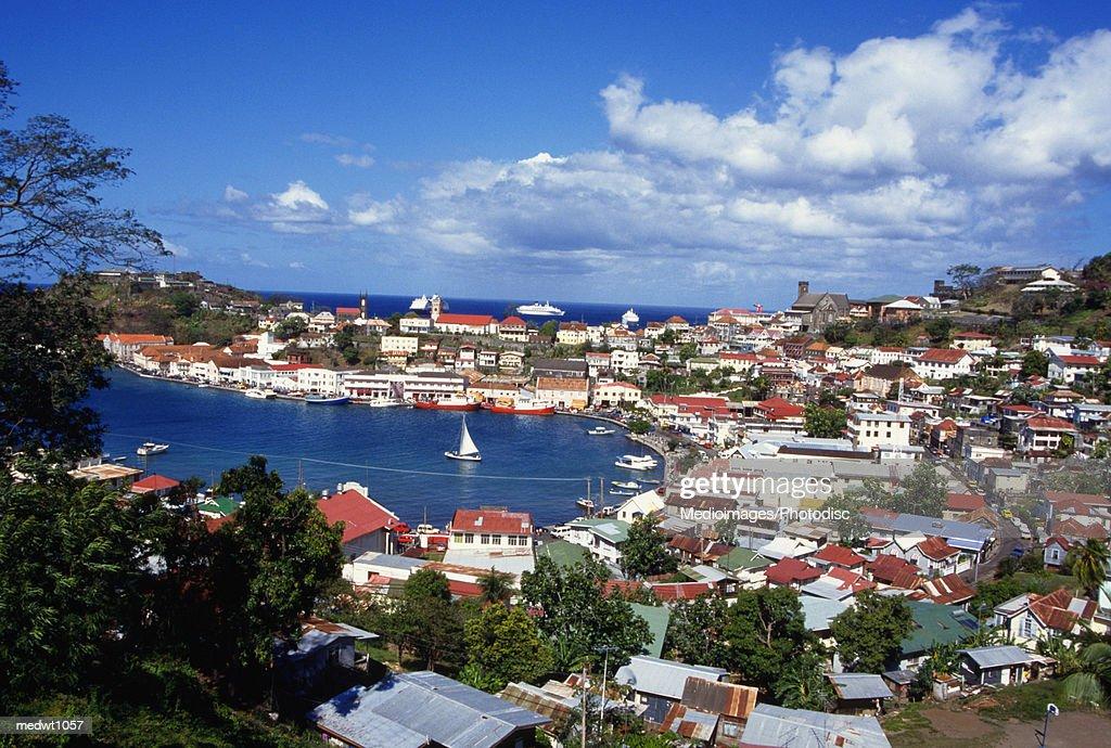 View of Carenage, St George, Grenada, West Indies