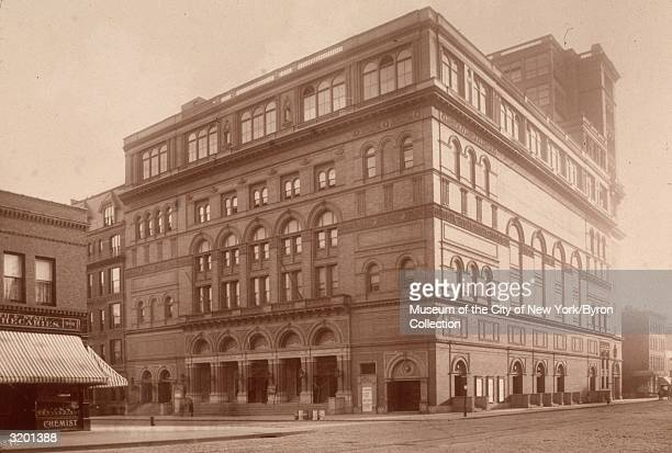 View of Carnegie Hall on the corner of Seventh Avenue and 57th Street New York City