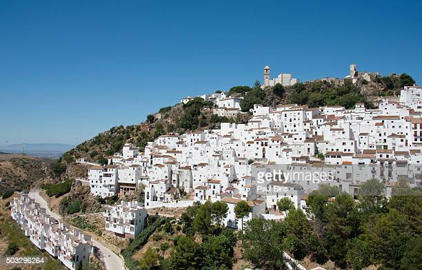 View of Casares, Pueblos Blancos (White Towns), Andalusia, Spain