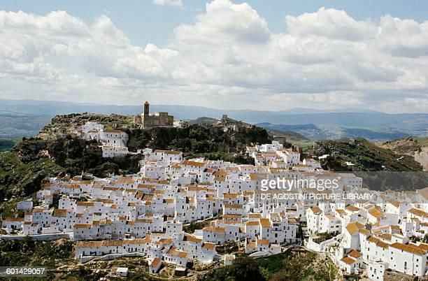 View of Casares Pueblos Blancos Andalusia Spain