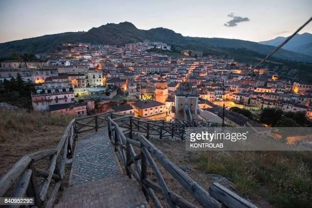 A view of Cassano allo Ionio in Calabria southern Italy