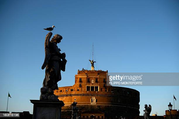 A view of Castel Sant'Angelo where the exhibition 'Peter's Journey' is being held on February 6 2013 The exhibit opened until May 1 is one of the...