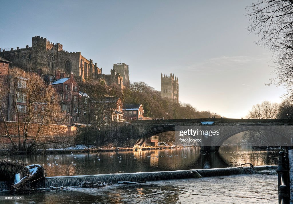 HDR view of Castle and Cathedral, Durham, UK : Stock Photo