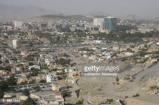 View of central Kabul, Afghanistan : Stock Photo