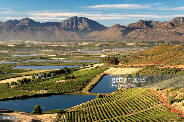 View of Ceres Valley at dawn, Ceres, Western Cape Province, South Africa