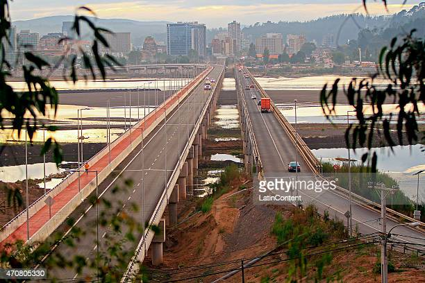 View of Chacabuco bridge at Biobio river on April 13th 2015 in Concepcion Chile Concepcion is one of the eight host cities of the next Copa America...