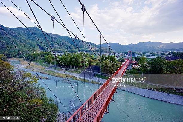 View of Chakura Bridge spanning the Kushida River